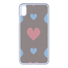 Hearts Heart Love Romantic Brown Iphone Xs Max Seamless Case (white) by HermanTelo