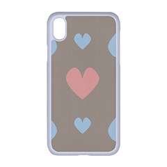Hearts Heart Love Romantic Brown Iphone Xr Seamless Case (white)