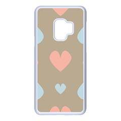 Hearts Heart Love Romantic Brown Samsung Galaxy S9 Seamless Case(white)