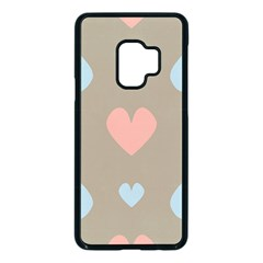 Hearts Heart Love Romantic Brown Samsung Galaxy S9 Seamless Case(black) by HermanTelo