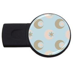 Moon Star Air Heaven Usb Flash Drive Round (4 Gb) by HermanTelo