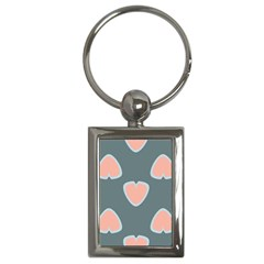 Hearts Love Blue Pink Green Key Chains (rectangle)