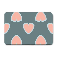 Hearts Love Blue Pink Green Small Doormat  by HermanTelo