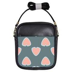 Hearts Love Blue Pink Green Girls Sling Bag by HermanTelo