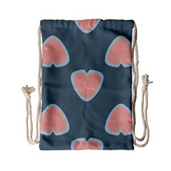 Hearts Love Blue Pink Green Drawstring Bag (small) by HermanTelo