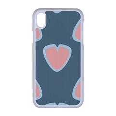 Hearts Love Blue Pink Green Iphone Xr Seamless Case (white)