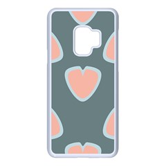 Hearts Love Blue Pink Green Samsung Galaxy S9 Seamless Case(white)