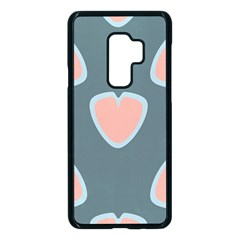 Hearts Love Blue Pink Green Samsung Galaxy S9 Plus Seamless Case(black)