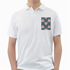 Hearts Love Blue Pink Green Golf Shirt