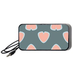 Hearts Love Blue Pink Green Portable Speaker