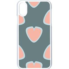 Hearts Love Blue Pink Green Iphone Xs Seamless Case (white)