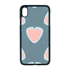 Hearts Love Blue Pink Green Iphone Xr Seamless Case (black)