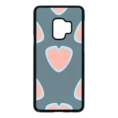 Hearts Love Blue Pink Green Samsung Galaxy S9 Seamless Case(black)