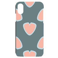 Hearts Love Blue Pink Green Iphone X/xs Black Uv Print Case
