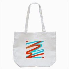 Abstract Colors Print Design Tote Bag (white) by dflcprintsclothing