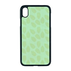 Leaves - Light Green Iphone Xr Seamless Case (black) by WensdaiAmbrose