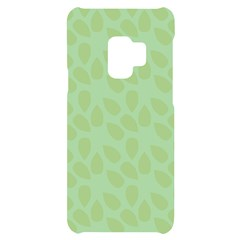 Leaves   Light Green Samsung S9 Black Uv Print Case by WensdaiAmbrose