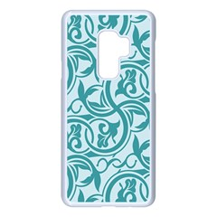Decorative Blue Floral Pattern Samsung Galaxy S9 Plus Seamless Case(white)