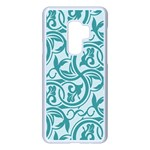 Decorative Blue Floral Pattern Samsung Galaxy S9 Plus Seamless Case(White) Front