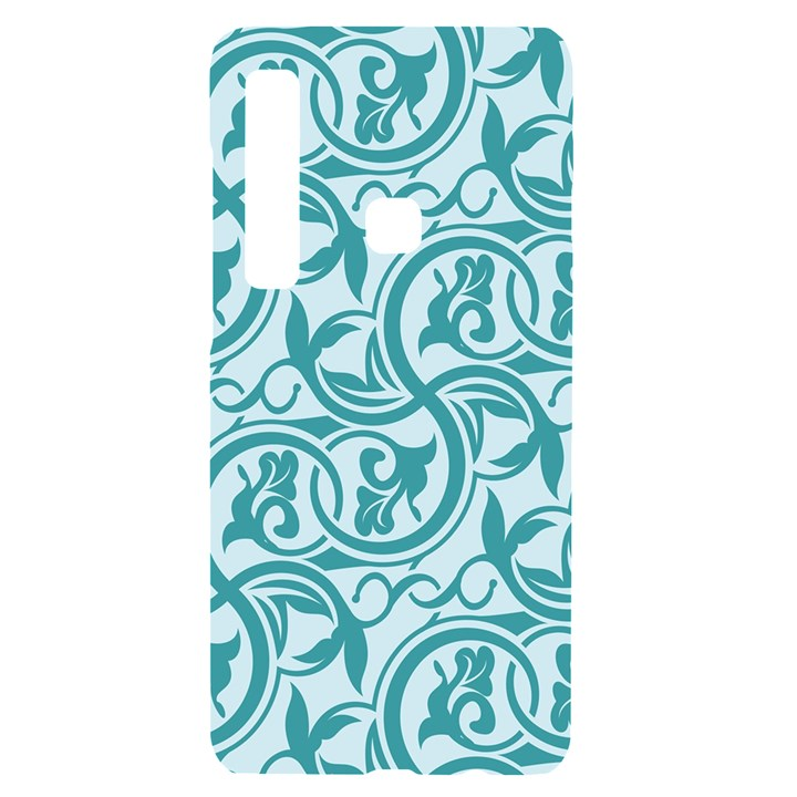 Decorative Blue Floral Pattern Samsung Case Others