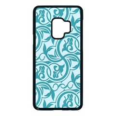 Decorative Blue Floral Pattern Samsung Galaxy S9 Seamless Case(black) by tarastyle