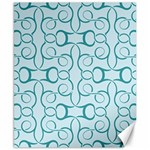 Decorative Blue Floral Pattern Canvas 8  x 10  10.02 x8  Canvas - 1