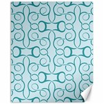 Decorative Blue Floral Pattern Canvas 16  x 20  20 x16  Canvas - 1