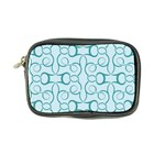 Decorative Blue Floral Pattern Coin Purse Front