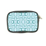Decorative Blue Floral Pattern Coin Purse Back