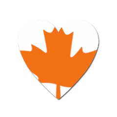 Logo Of New Democratic Party Of Canada Heart Magnet by abbeyz71