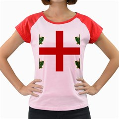 Flag Of Anglican Church Of Canada Women s Cap Sleeve T-shirt by abbeyz71