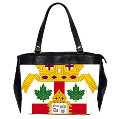 Coat Of Arms Of Anglican Church Of Canada Oversize Office Handbag (2 Sides) by abbeyz71