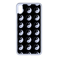 Yin Yang Pattern Iphone Xs Max Seamless Case (white) by Valentinaart