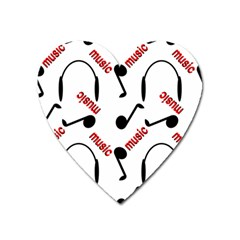Music Letters Word Headphones Note Heart Magnet by HermanTelo