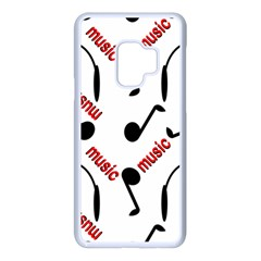 Music Letters Word Headphones Note Samsung Galaxy S9 Seamless Case(white)