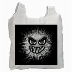 Monster Black White Eyes Recycle Bag (one Side)