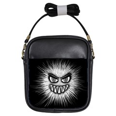 Monster Black White Eyes Girls Sling Bag by HermanTelo