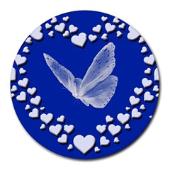 Heart Love Butterfly Mother S Day Round Mousepads