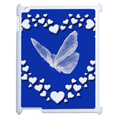 Heart Love Butterfly Mother S Day Apple Ipad 2 Case (white) by HermanTelo