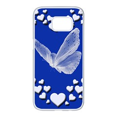 Heart Love Butterfly Mother S Day Samsung Galaxy S7 Edge White Seamless Case