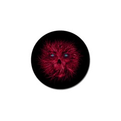 Monster Red Eyes Aggressive Fangs Ghost Golf Ball Marker (4 Pack)