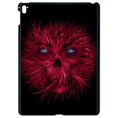 Monster Red Eyes Aggressive Fangs Ghost Apple Ipad Pro 9 7   Black Seamless Case