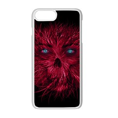 Monster Red Eyes Aggressive Fangs Ghost Iphone 8 Plus Seamless Case (white)