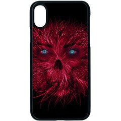 Monster Red Eyes Aggressive Fangs Ghost Iphone Xs Seamless Case (black)