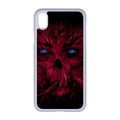 Monster Red Eyes Aggressive Fangs Ghost Iphone Xr Seamless Case (white)