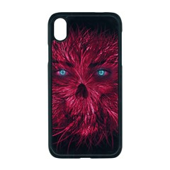 Monster Red Eyes Aggressive Fangs Ghost Iphone Xr Seamless Case (black)