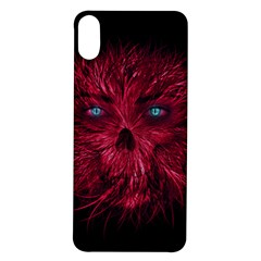 Monster Red Eyes Aggressive Fangs Ghost Iphone X/xs Soft Bumper Uv Case
