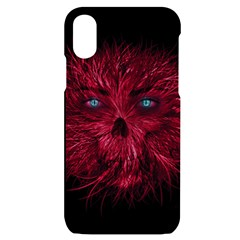 Monster Red Eyes Aggressive Fangs Ghost Iphone X/xs Black Uv Print Case