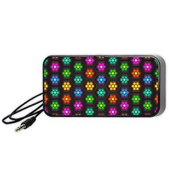 Pattern Background Colorful Design Portable Speaker
