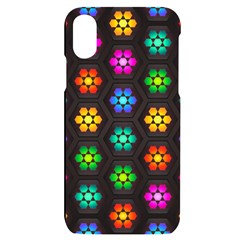 Pattern Background Colorful Design Iphone X/xs Black Uv Print Case